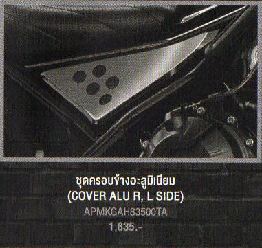 COVER ALU R, L SIDE (サイドカバー)