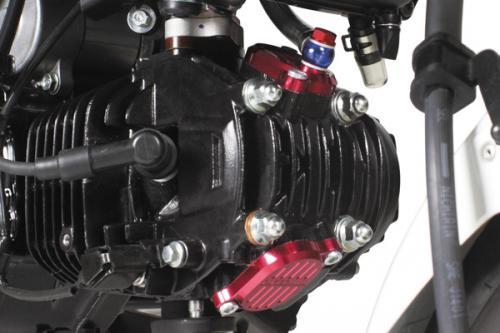 モンキー125(JB02) SP武川(TAKEGAWA) アルミ削り出しタペットブリーザーカバーセット