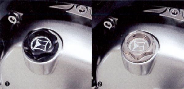 新型スーパーカブC125(JA48) モリワキ オイルフィラーキャップ(クラウンタイプ)