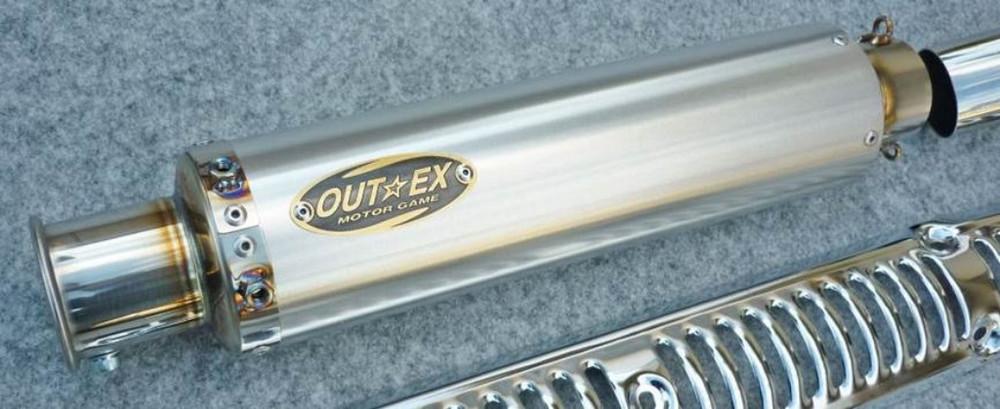 新型スーパーカブC125(JA48) OUTEX アウテックス マフラー アップタイプ