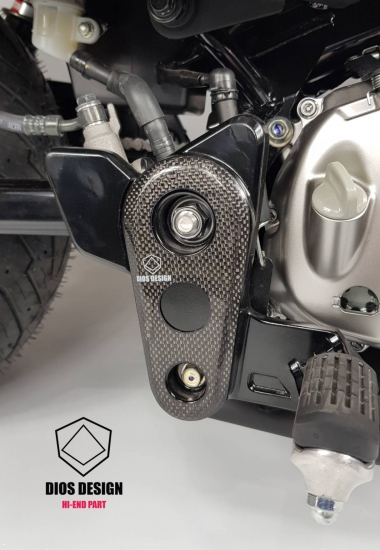 モンキー125(JB02) カーボン ステップホルダー カバー