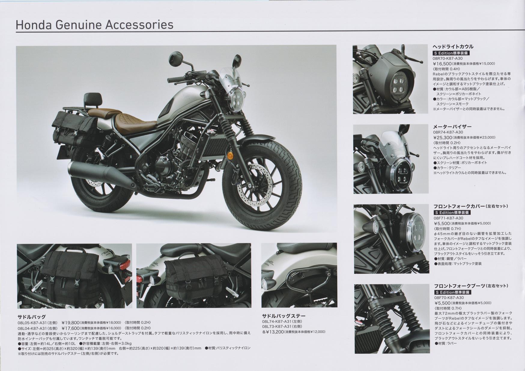 HONDA Rebel 250(2020年モデル)本体カタログ