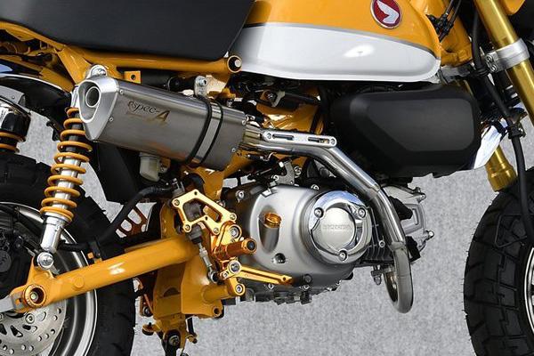 モンキー125(JB02) ヤマモトレーシング(YAMAMOTO RACING) SUS UP-TYPE TYPE-SA スリップオンマフラー