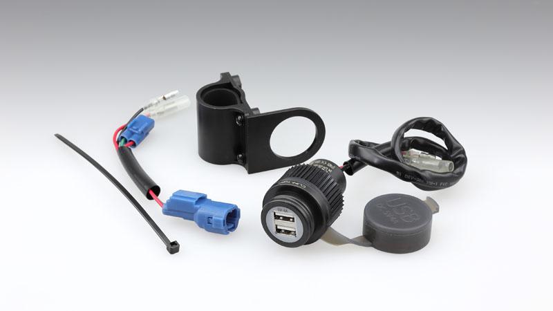 HONDA CT125 新型ハンターカブ(JA55) KIJIMA(キジマ)USBポートキット ツイン DC5V/4A