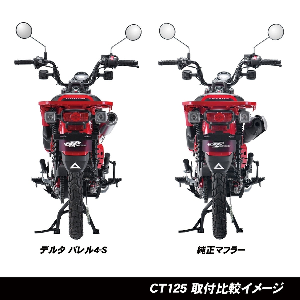 HONDA CT125 新型ハンターカブ(JA55) DELTA(デルタ)バレル4-S MINIサイレンサー
