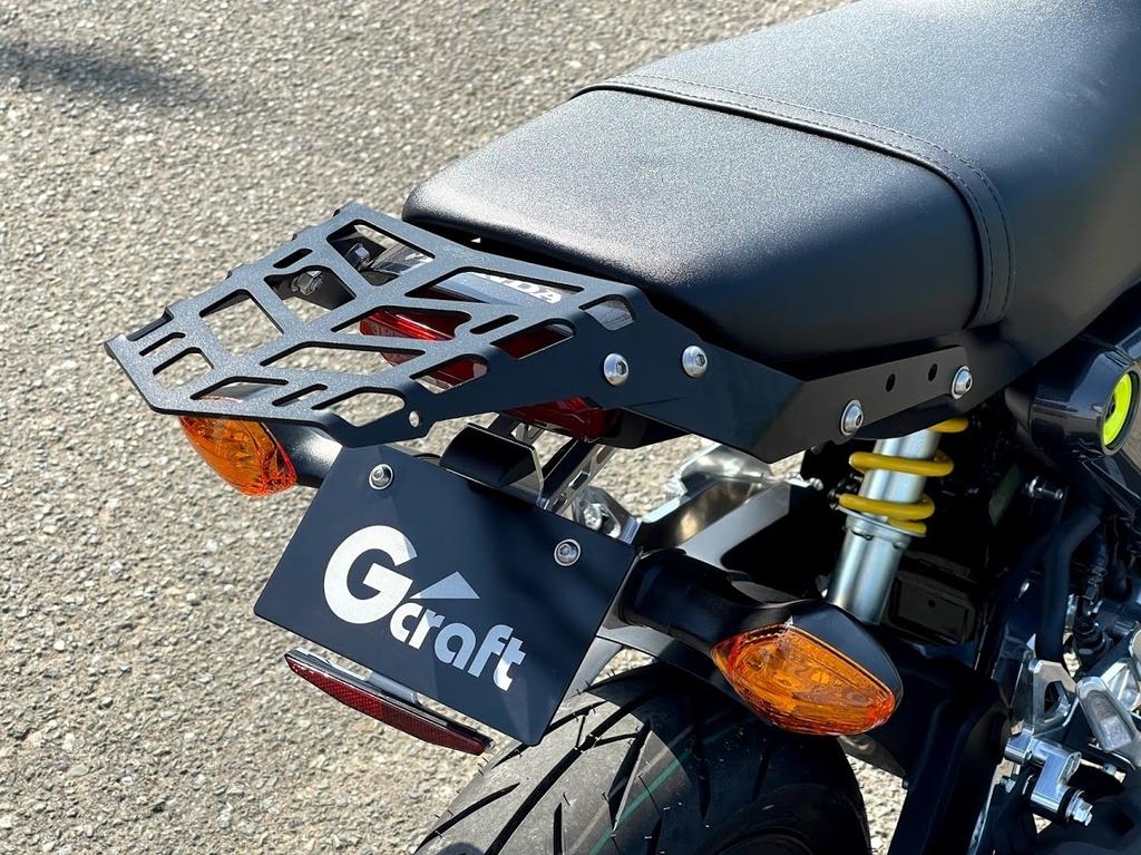 2021新型グロム(GROM 2BJ-JC92) G-Craft(ジークラフト)リアキャリア